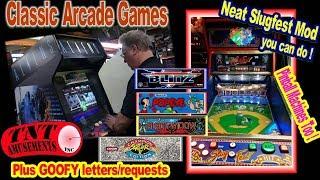 #1473 Konami ALIENS-Atari BLACK WIDOW-Arcade Games-Williams SLUGFEST Baseball-TNT Amusements