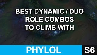 Best dynamic / duo role combinations to climb with - Season 6 League of Legends