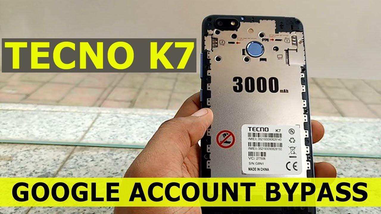 Tecno K7 Bypass Google Account, Tecno K7 Frp Bypass