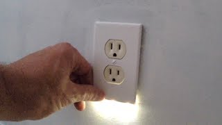 Night Light built into outlet cover