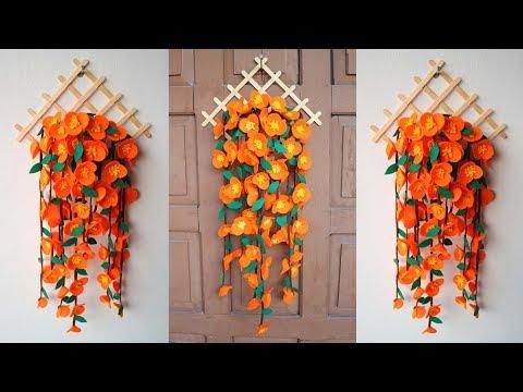 Popsicle Stick Crafts DIY Ideas | Ide Kreatif Hiasan Dinding dari Stik Es Krim dan kain flanel