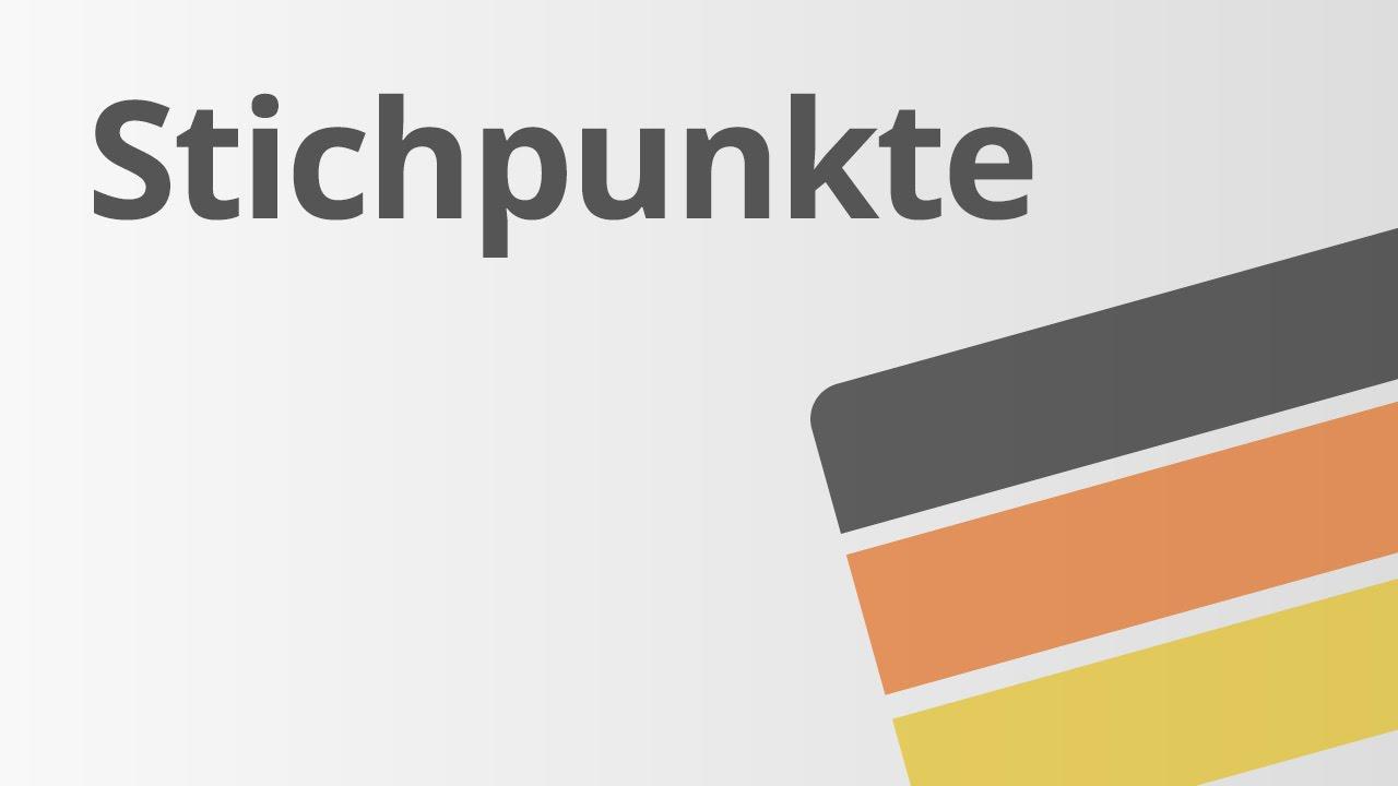 Stichpunkte Deutsch Texte Schreiben Youtube
