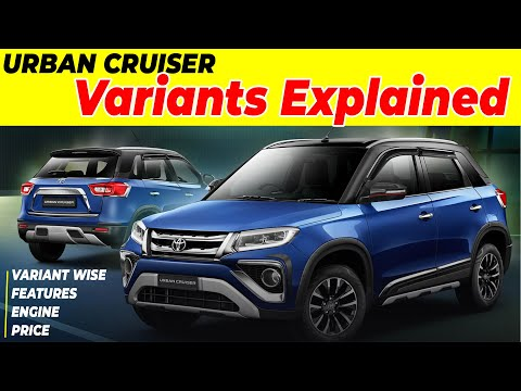 Urban Cruiser Toyota Variants Explained | Toyota Urban Cruiser Price, Specs, Features, Warranty