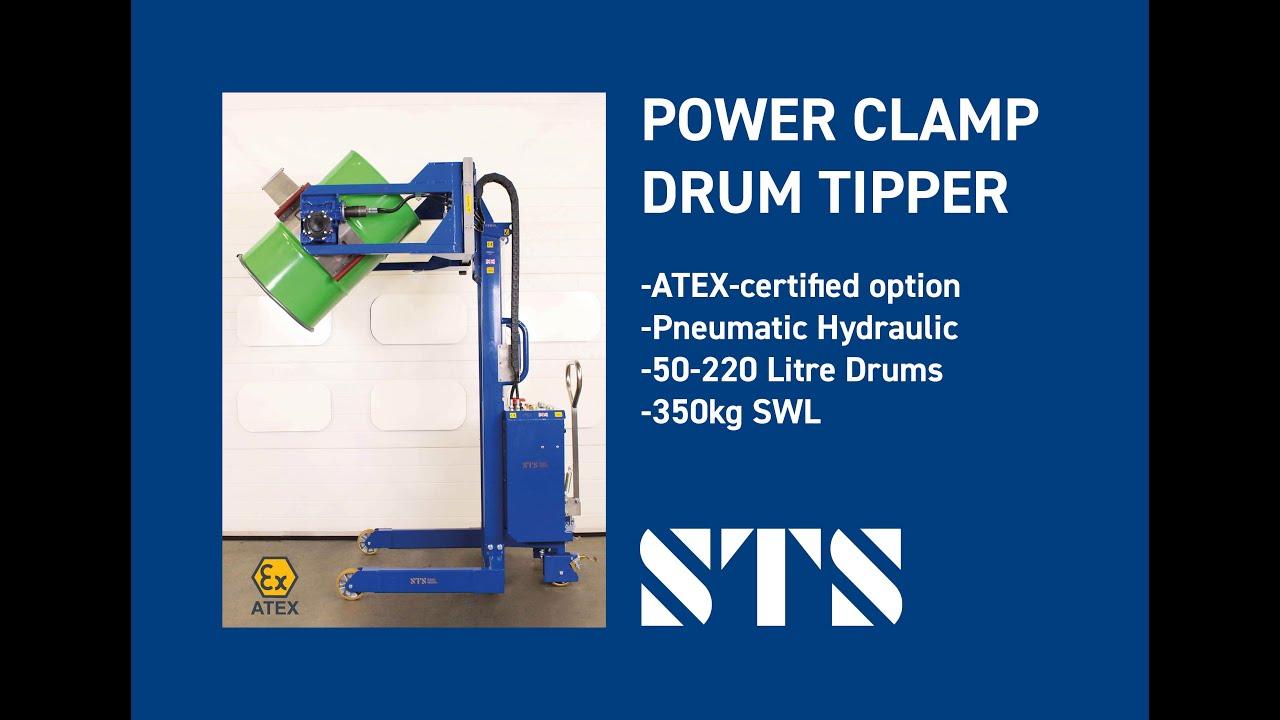 ATEX Pneumatic Power Clamp Drum Tipper (STP01 RRH01 Ex 2021)