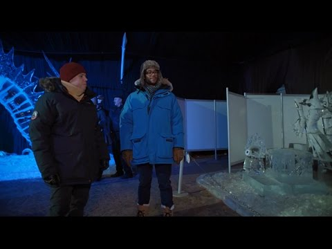 Richard Ayoade, Rob Beckett & ice sculptures in St. Petersbu