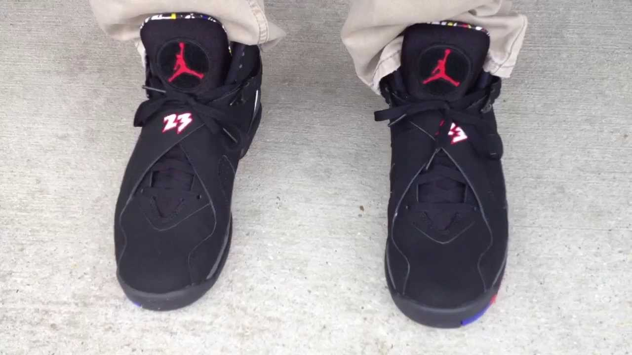 Playoff 8s 2013 On Feet Air Jordan 8 VIII Retr...