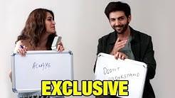 Kartik Aaryan & Kriti Kharbanda Play NEVER HAVE I EVER At Guest Iin London Interview