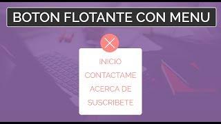 Como crear BOTÓN FLOTANTE con menú | HTML5 - CSS3 | Fácil