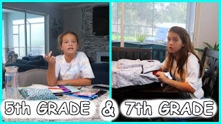 5th Grade & 7th Grade , Second day of School | SISTERFOREVERVLOGS #566