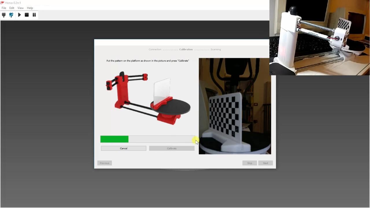 Ciclop 3D scanner calibration