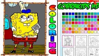 Sponge bob coloring, раскраска Спанч боб