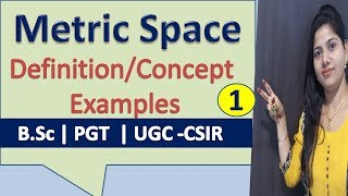 Concept and Definition of Metric space in real analysis in hindi