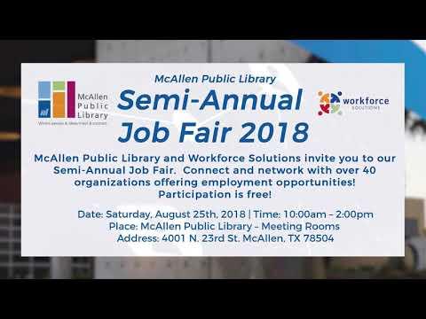 Job Fair At McAllen Public Library