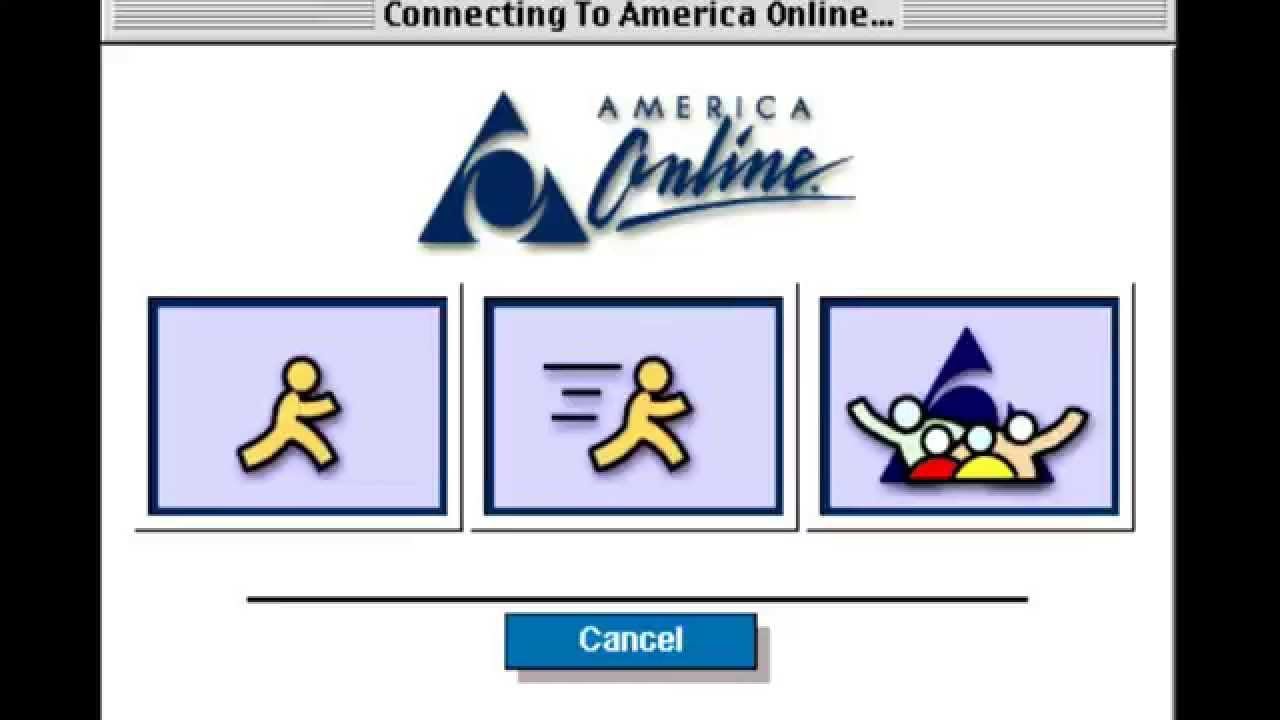 Image result for aol startup screen