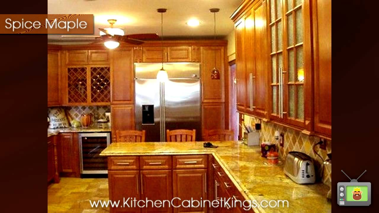 Spice Maple Kitchen Cabinets By Kitchen Cabinet Kings   YouTube