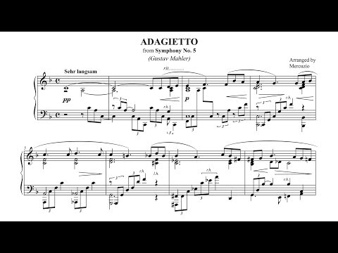 """Mahler """"Adagietto"""" 5th Symphony PIANO SOLO (arr. Mercuzio) P. Barton FEURICH piano"""