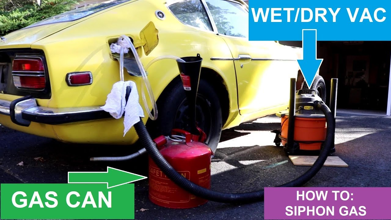 How To Siphon Gas >> How To Siphon Gas Using A Wet Dry Vac