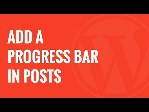 How to Add a Progress Bar in Your WordPress Posts