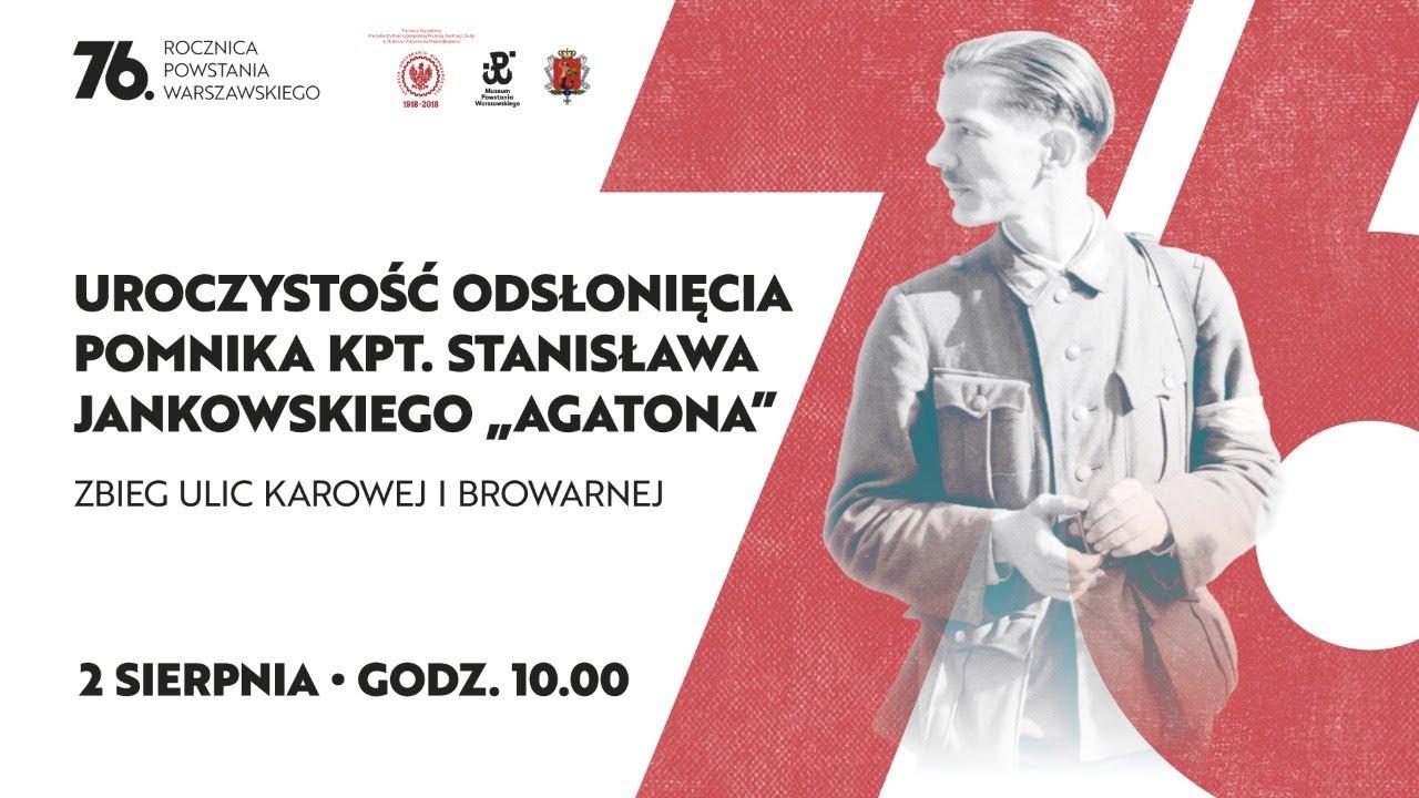 """#NaŻywo: Odsłonięcie pomnika kpt. Stanisława Jankowskiego """"Agatona"""""""