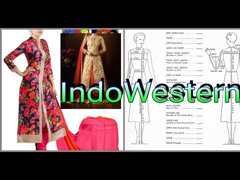 Indowestern dress cutting and stitching