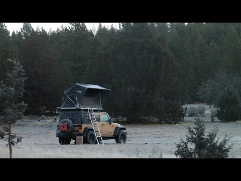 Winter Car Camping in the High Desert - Jeep Wrangler Rooftop Tent Camping