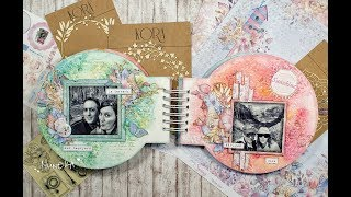 TUTORIAL Mixed Media Shaker Album. KORA projects