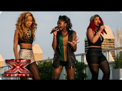 Miss Dynamix sing Pure Shores  All Saints  Judges Houses  The X Factor 2013