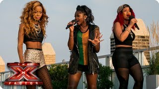 Miss Dynamix sing Pure Shores by All Saints -- Judges Houses -- The X Factor 2013