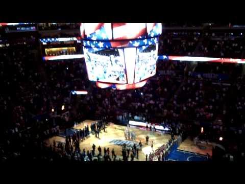 Lisa Goldstein Singing The National Anthem at Orlando Magic VS Miami Heat 3252013