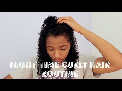 Night Time Curly Hair Routine(Winter) - YouTube