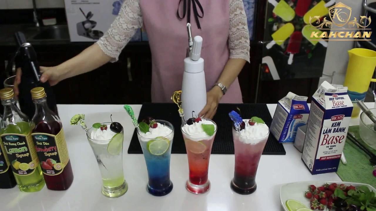 Hướng dẫn pha chế 4 loại nước soda đơn giản bằng bình làm soda kahchan (1/7)