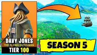 Fortnite SEASON 5 LEAKED - TIER 100 Davy Jones PIRATE SKIN (The Flying Dutchman Theory) | Chaos