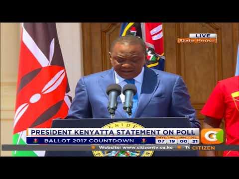 President Kenyatta's Statement on polls