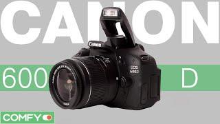 Canon 600D  - зеркальная фотокамера с зум-объективом в комплекте - Видеодемонстрация от Comfy(Canon EOS 600D kit 18-55mm DC III - зеркальная фотокамера с поворотным экраном. В комплекте с устройством поставляется..., 2014-09-26T12:47:41.000Z)