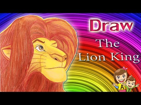 Teach To Draw Simba In The Lion King Along With Coloring L At4kids