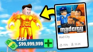 SUPERHEROS MAKE SO MUCH CASH! | Roblox Mad City