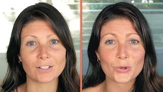 FULL FACE USING ONLY FOOD Makeup Challenge