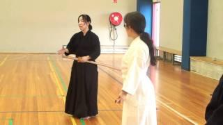 Kanzaki Sensei 神崎先生:   Bokuto 1: Men, Kote, Do, Tsuki - Kiai, Tanden breathing