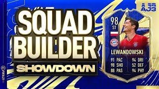 Fifa 21 Squad Builder Showdown!!! TEAM OF THE YEAR LEWANDOWSKI!!