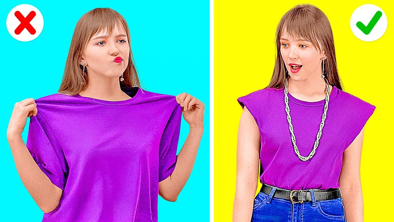 DO IT WITH STYLE!    Quick Clothing Hacks To Solve Any Fashion Problem