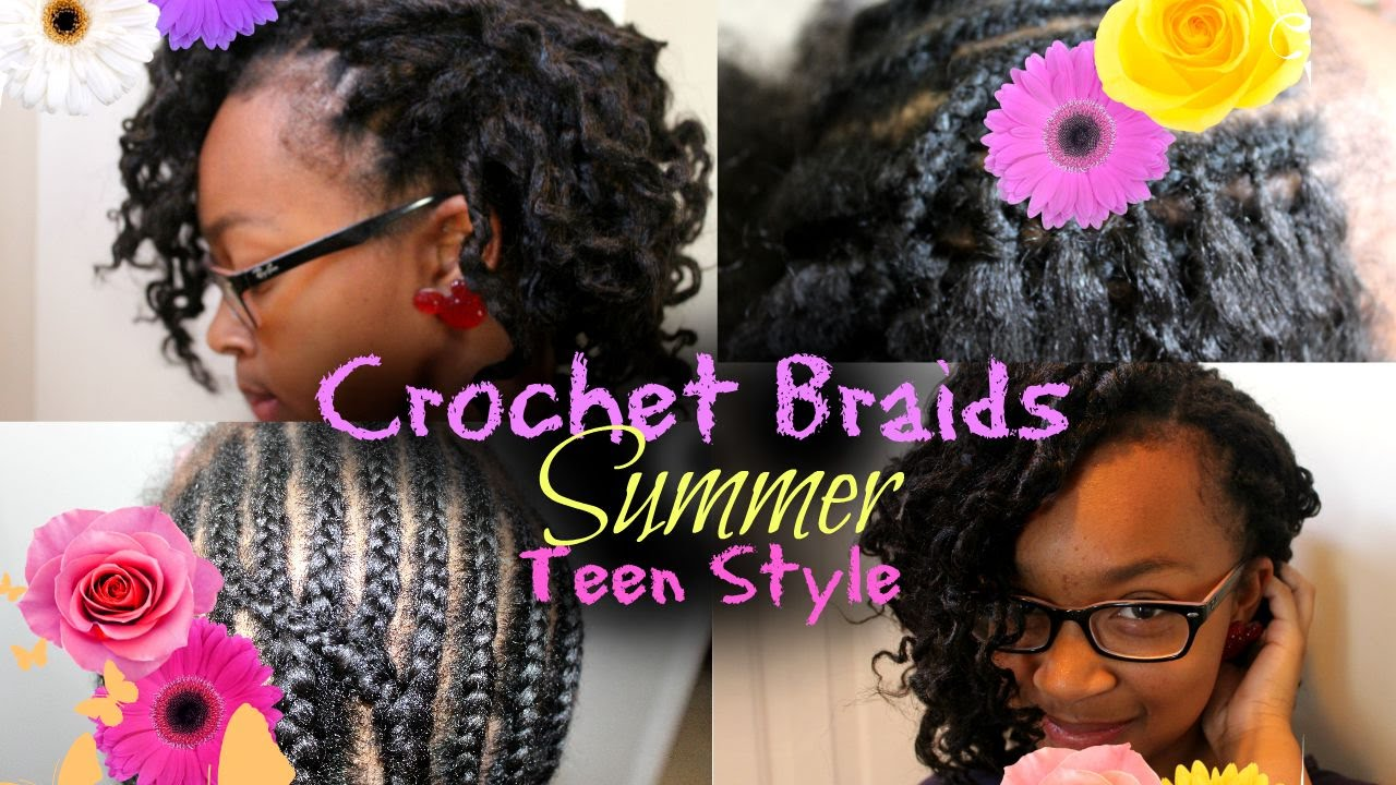 How To Crochet Braid For Teen Hairstyle Youtube