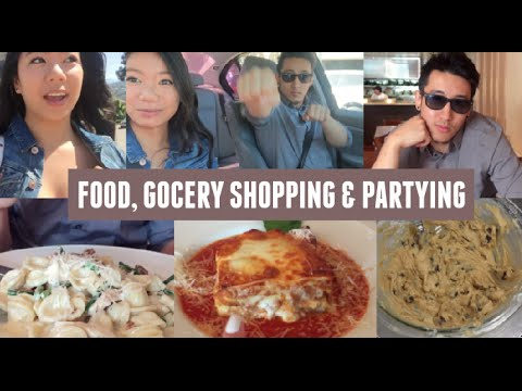 Italian Food, Grocery Shopping, Baking & Partying!