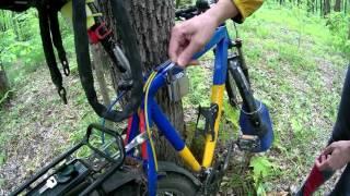 Надежный велозамок с сигнализацией, защита от угона велосипеда!