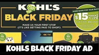 Kohls Black Friday Ad 2017-Lots of Great Deals