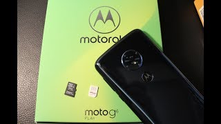 Motorola Moto G6... How to remove / install SIM AND MEMORY CARD