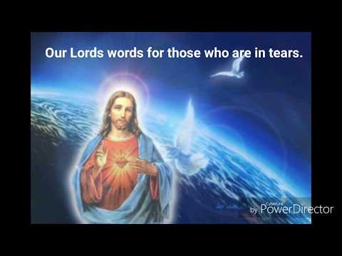 Our Lords words for those who are in tears