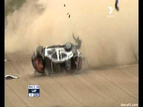 2010 Bathurst 1000 Fabian Coulthard massive crash on the first lap.