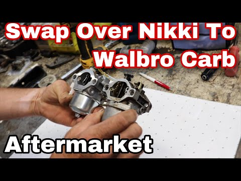 How To Swap Over A Nikki Carb To A Walbro Aftermarket Carb On A Briggs Engine
