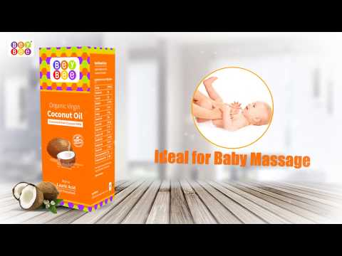 Baby Extra Virgin Organic Coconut Oil Cold Pressed for Massage & Hair By Bey Bee