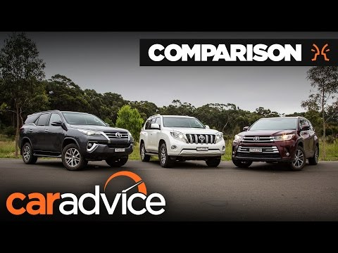 Toyota SUV Comparison: Fortuner V Kluger V Prado   CarAdvice